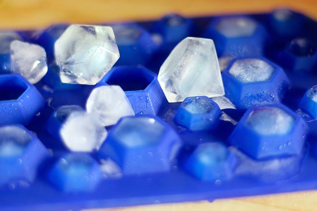 Eiswürfel Eiswürfelform aus Silikon Diamant