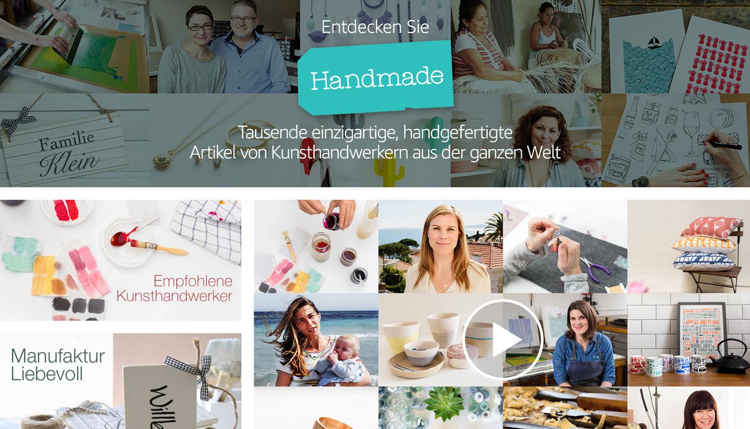 Amazon Handmade Deutschland Kategorien Schmuck, Wohnen, Accessoires, Pottery, Holz, Leder, Kleidung