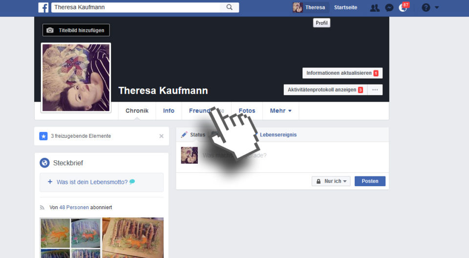 Facebook Freundesliste unsichtbar machen, verbergen und verstecken