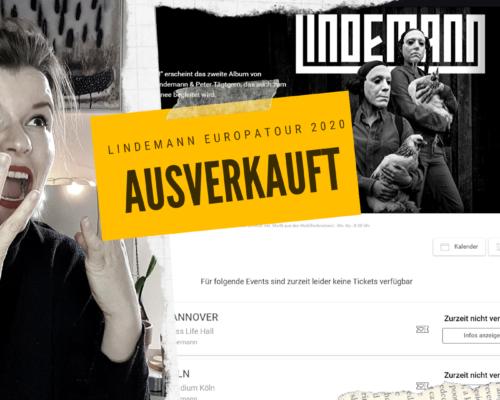 Lindemann Europatour 2020 Karten restlos ausverkauft