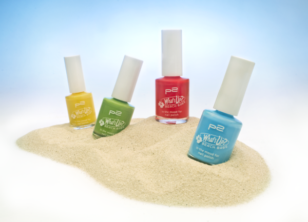 "Limitiert bei dm zu bekommen - p2 ""What's up? Beach Babe""- Kollektion. Hier: Nagellacke ""in the mood for nail polish"""