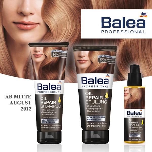 Balea professionel oil repair Pflegelinie: Shampoo, Spülung, Haaröl