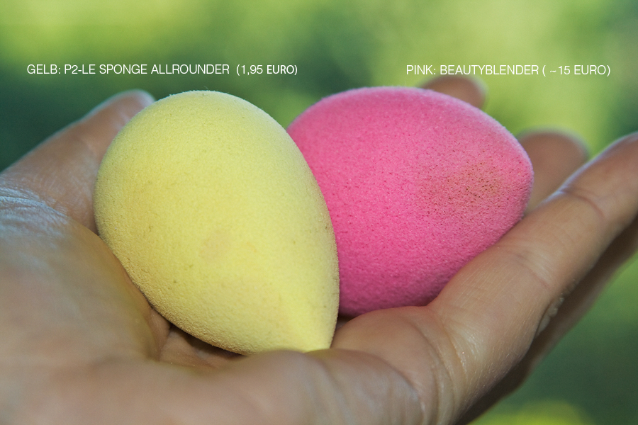 "Links: der gelbe ""sponge allrounder"" von p2 (LE ""What's up? Beach Babe"" Sommer 2012) 