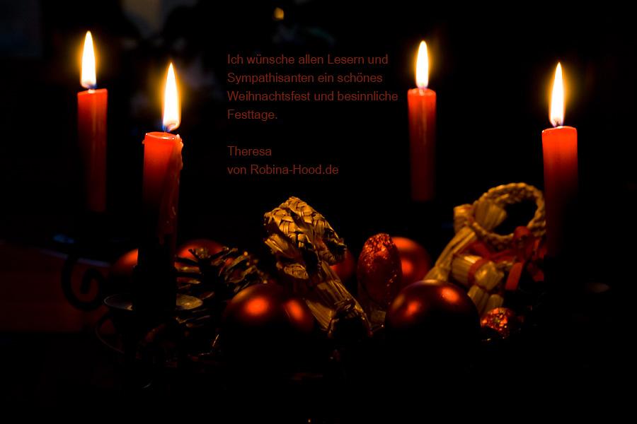 Theresa von robina-hood.de wünscht frohe Weihnachten