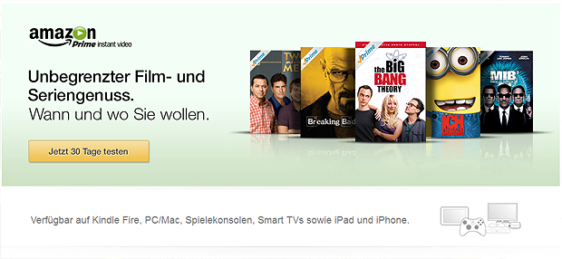 30 Tage Amazon Prime und Amazon Instant Video gratis testen