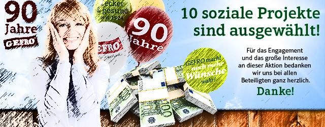 GEFRO feiert 90. Jubiläum - großes Charity-Projekt