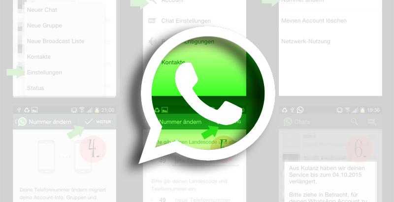 Getestet: neue Nummer bei bestehendem WhatsApp-Account ändern ohne etwas zu bezahlen